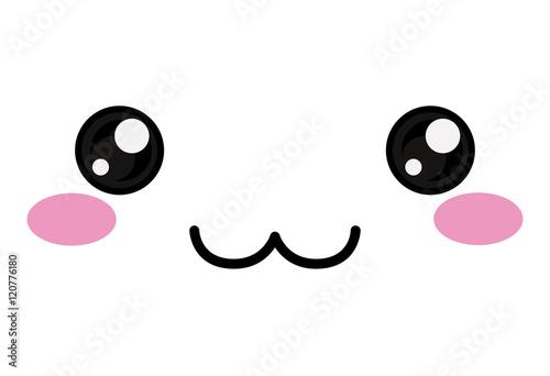 Photo  Kawaii happy face icon