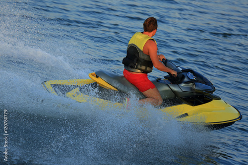 Canvas Prints Water Motor sports scooter on water