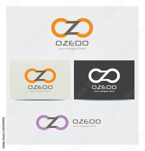 Valokuva  Logo Lettres O et Z Carte de Visite et Charte Graphique Entreprise Plusieurs Cou