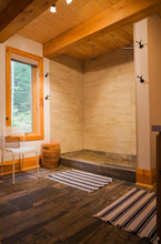 Ceramic Shower In Bathroom On ...