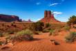 Leinwandbild Motiv The unique landscape of Monument Valley West Thumb, Utah