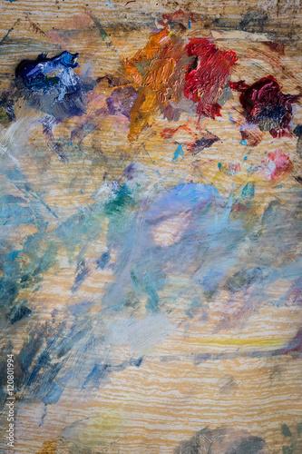 Photo sur Toile Papillons dans Grunge artist paint background