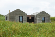 Modern Wooden Houses Surrounde...
