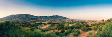 Panoramic View Of Cityscape Of Mijas In Malaga, Andalusia, Spain