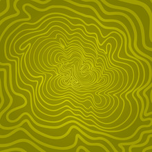 Deformed Spiral Yellow Continuous Circular Strongly Deformed Spiral Pattern Made By Hand. The Upper Layer Can Change The Color