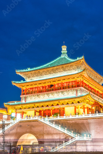 Foto op Plexiglas Xian Xian bell tower