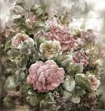 Bukiet róż w stylu malarstwa akwarelowego. Malarstwo cyfrowe - 120814720