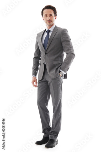 Fotografie, Obraz  Full body portrait of business man