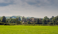 Skipton, Yorkshire, UK. September 13th 2016. The Old Abbey In Its Countryside Setting, Bolton Abbey, Skipton, Yorkshire, UK