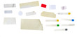 Leinwandbild Motiv set of grungy adhesive stickers, price tags, isolated on white, free copy space