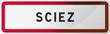 Panneau Sciez - Ville de Haute-Savoie - 74 - Auvergne-Rhône-Alpes - France