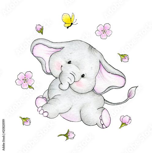 sliczny-slonik-na-bialym-tle-dla-dzieci