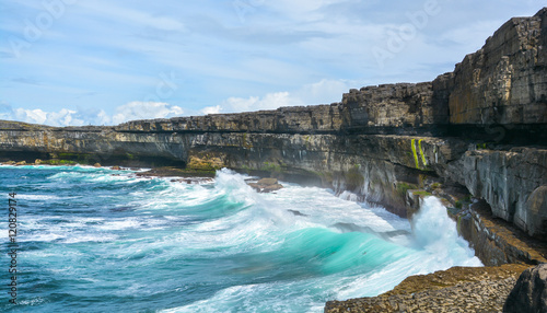 Scenic cliffs of Inishmore, Aran Islands, Ireland Wallpaper Mural