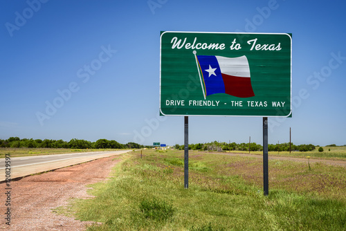 Poster Texas Welcome to Texas State Sign