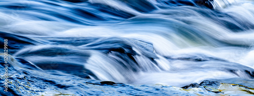 Obraz Waterfall into foamy river - fototapety do salonu