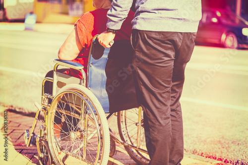 Fotografie, Obraz  Woman in Wheelchair