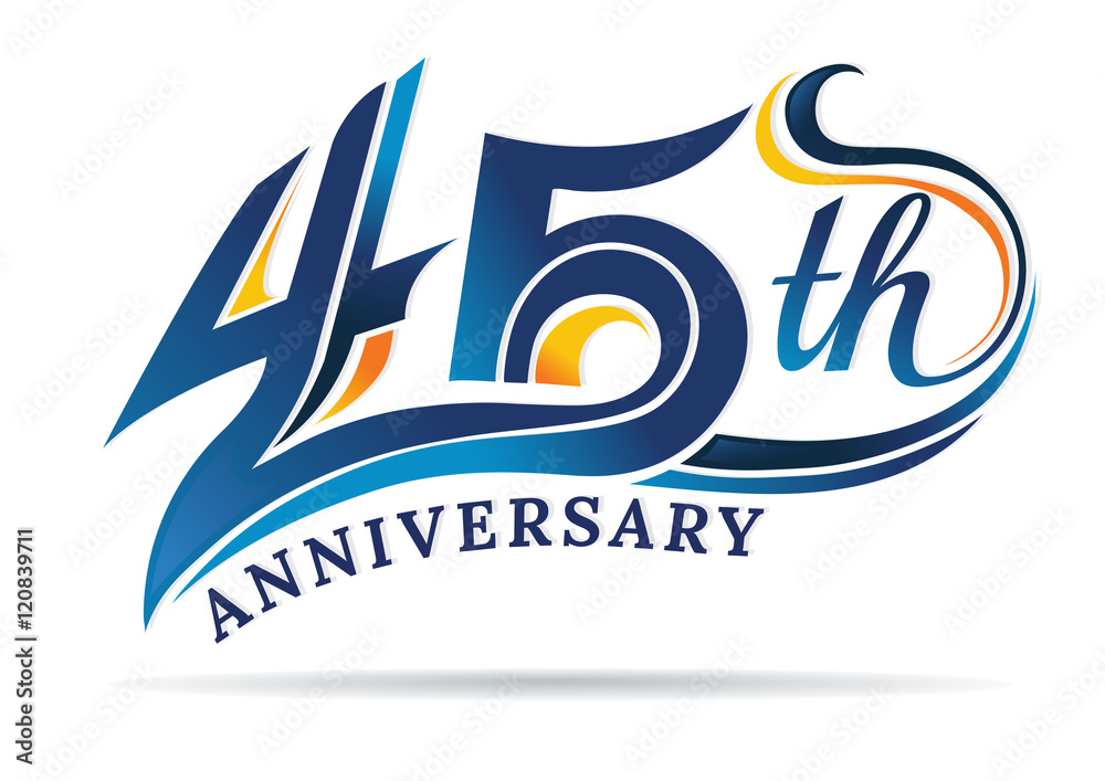 фотография  anniversary emblems 45 in anniversary concept template design