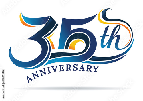 фотография  anniversary emblems 35 in anniversary concept template design
