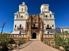 Mission San Xavier Del Bac In Tohono O'Odhsm Indian Reservation, Arizona