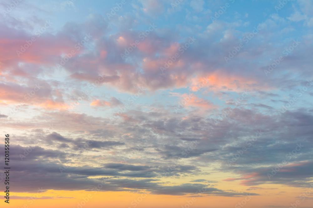 Fototapeta Real background of majestic sunrise sky