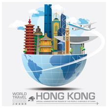 Hong Kong Landmark Global Travel And Journey Infographic