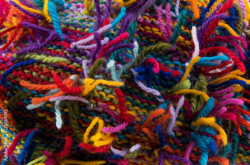 Fotografie, Obraz  striped colorful wool texture