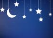 Leinwanddruck Bild - night background with sky and stars