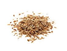 Dried Dill Seeds Isolated.
