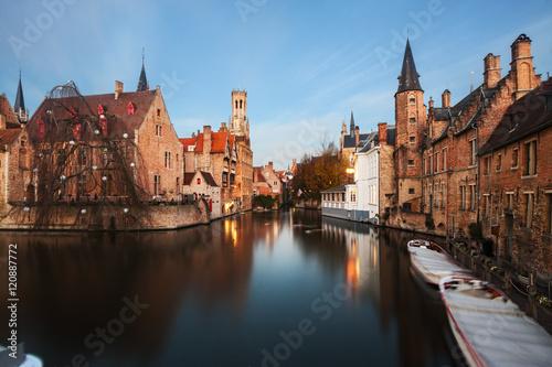 Deurstickers Brugge Bruges, Belgium.