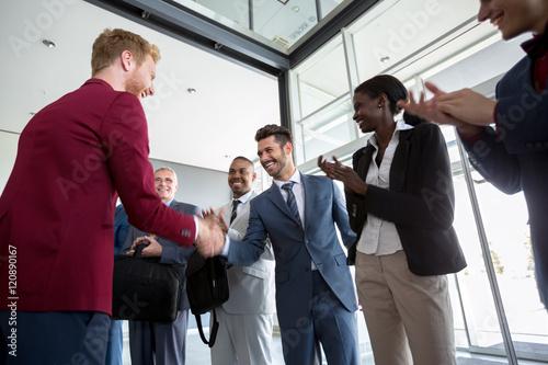 Fototapety, obrazy: Happy businessmen have agreement