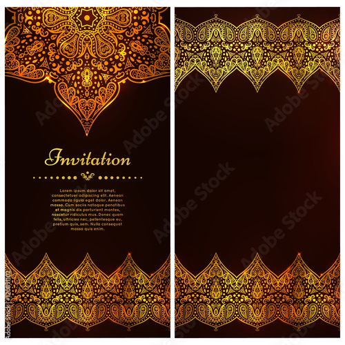 Ornate Vector Border And Place For Your Chocolate Design Vintage