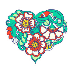 Decorative floral Love Heart for Valentine's Day