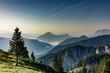 canvas print picture - berge alpen