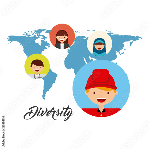 Photo Stands Illustrations diversity of world cultures vector illustration design