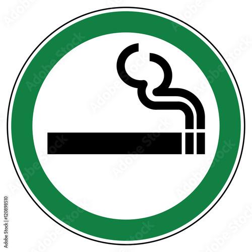 Fotografía  srg1 SignRoundGreen - German - ez1 ErlaubnisZeichen: Rauchen erlaubt - english -