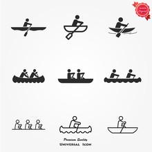 Rowing Icon Set