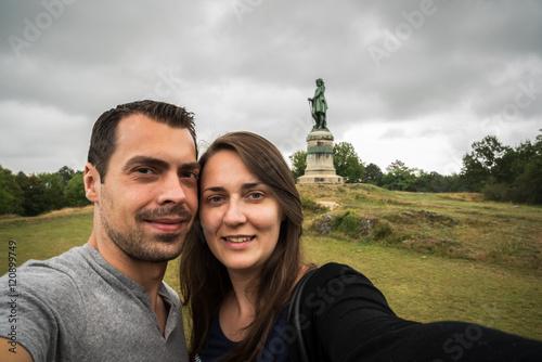 Couple à Alesia Billede på lærred