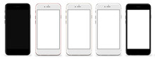 Set Of Five Smartphones Gold, ...