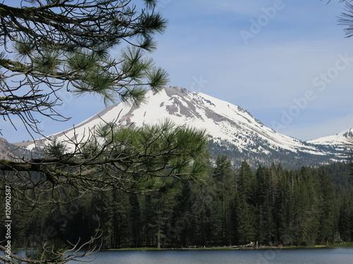 Poster Reflexion lassen volcanic national park