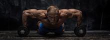 Muscular Bodybuilder Guy Over ...