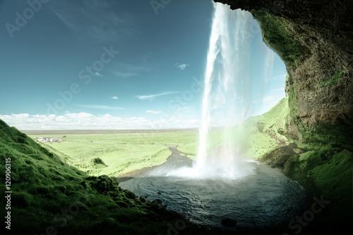 Keuken foto achterwand Watervallen Seljalandfoss waterfall, Iceland