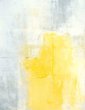 Grey and Yellow Abstract Art Painting - 120916102
