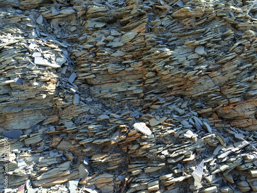 fc133d7f3 Mountain textured rocky wall with scenic layered stone structure ...
