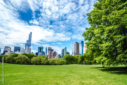 Canvas Print Skyline von New York vom Central Park