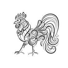 Decorative Cock. Design For Ta...