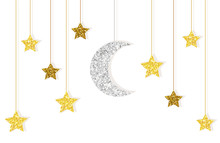 Cute Glitter Gold And Silver M...