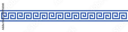 Photo  Bannière méandres grecs.