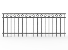 3d Illustration Of Metal Fence. White Background Isolated. Icon For Game Web.