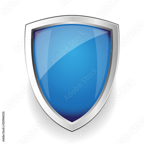 Obraz na plátně Blue empty vector shield