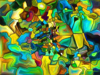 Fototapeta Witraże świeckie Virtual Hues